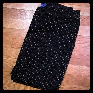 Pixie pants in black with white dots